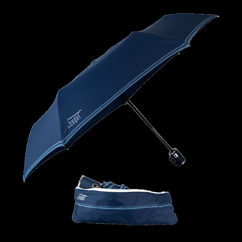 parapluie Beau Nuage l'automatique pliable avec sa housse absorbante vue ensemble bleu marine