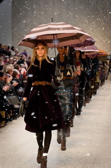 How Burberry used umbrellas at a show in London