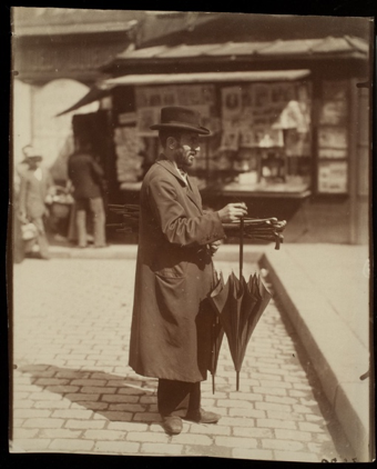 Umbrella seller in the 19th century